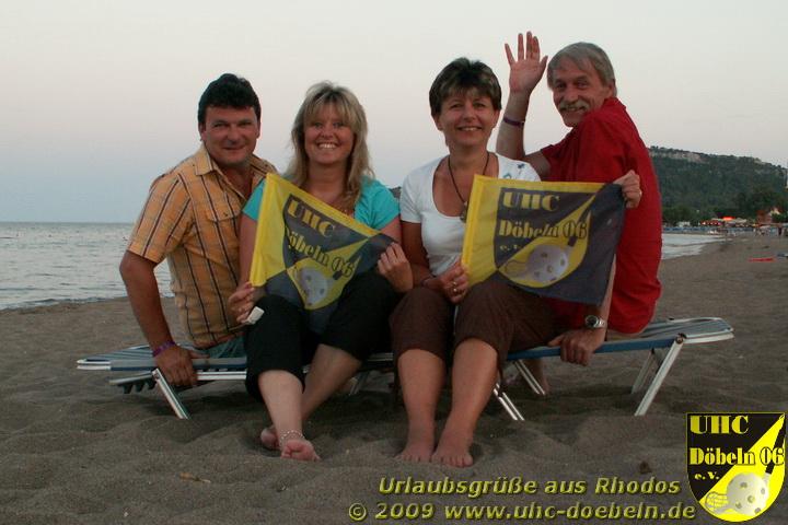 Grüße aus Rhodos senden Euch Gabi, Jana, Rainer und Axel